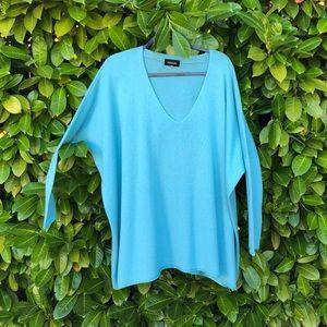 Cashmere- oversized aqua lightweight sweater